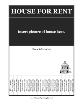 Flyer House For Rent - For rent advertisement template