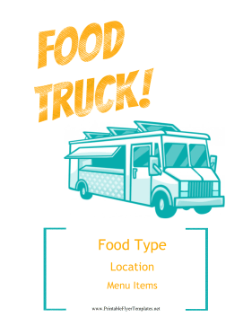 Food Truck Flyer Printable Template