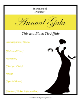 Gala Flyer Printable Template