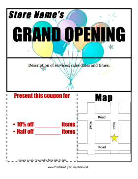 Grand Opening Flyer Printable Template