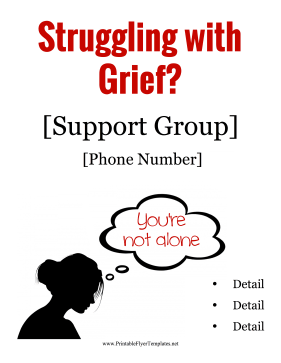 Grief Support Flyer Printable Template