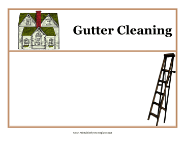 Gutter Cleaning Flyers Printable Template