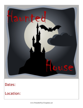 Haunted House Flyer Printable Template