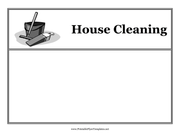 House Cleaning Flyers Printable Template
