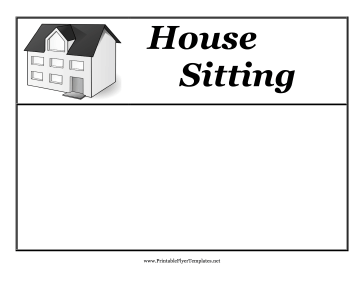 Housesitting Flyer Printable Template