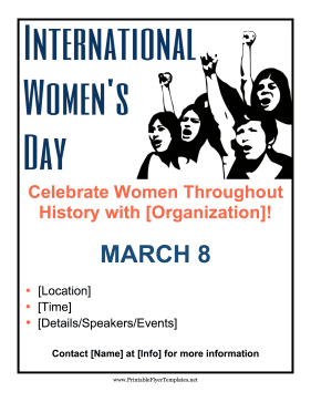 International Women's Day Printable Template