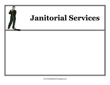 Janitor Flyer Printable Template