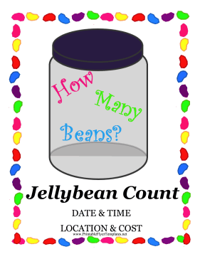 Jellybean Count Fundraiser Printable Template