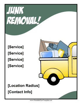 Junk Removal Flyer Printable Template