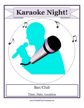 Karaoke Night Flyer Printable Template