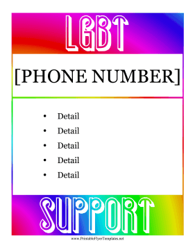 LGBT Support Services Flyer Printable Template