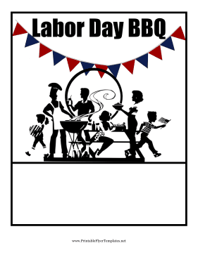 Labor Day BBQ Printable Template