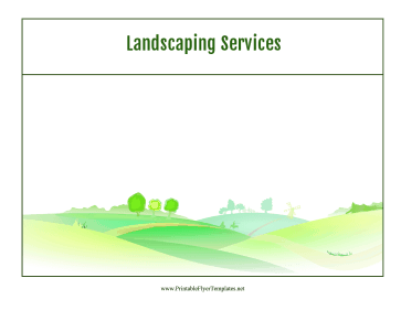 Landscaping Services Flyer Printable Template
