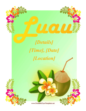 Luau Flyer Printable Template