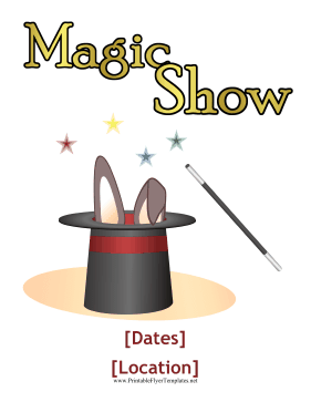 Magic Show Flyer Printable Template