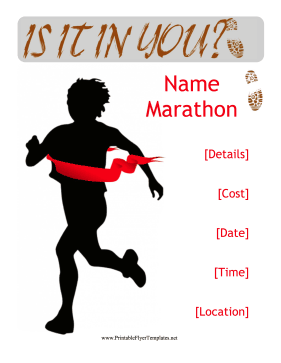 Marathon Flyer Printable Template