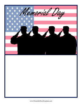 Memorial Day Flyer Printable Template