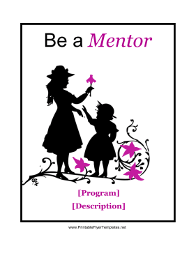Mentorship Flyer Printable Template