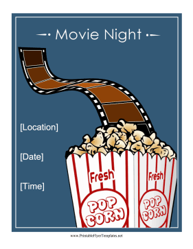 Movie Night Flyer Printable Template