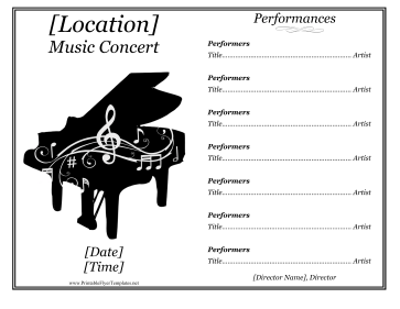 Music Recital Flyer Printable Template