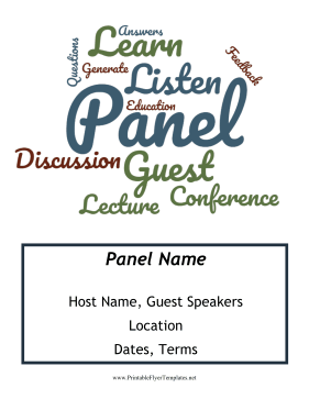 Panel Discussion Flyer Printable Template