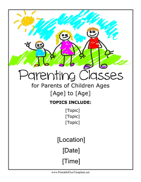 Parenting Classes Flyer Printable Template