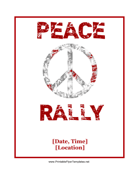 Peace Rally Flyer Printable Template