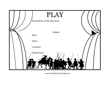 Play Flyer Printable Template