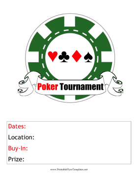 Poker Tournament Flyer Printable Template