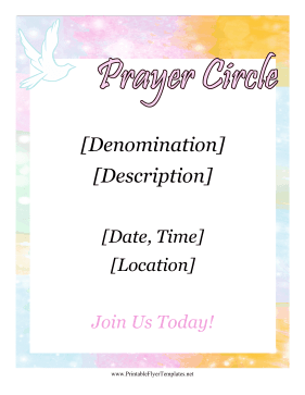 Prayer Circle Flyer Printable Template