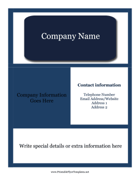 Professional Flyers Printable Template