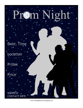 Prom Flyer Printable Template