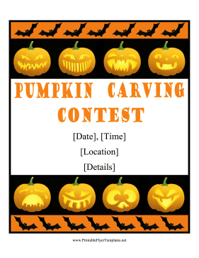 Pumpkin Carving Flyer Printable Template