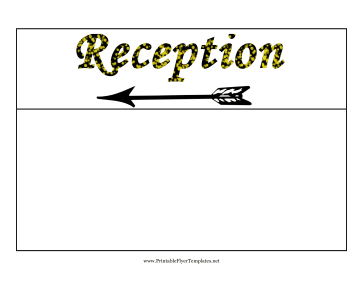 Reception Flyer Left Printable Template