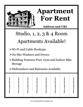 Rent Flyer with Details Printable Template