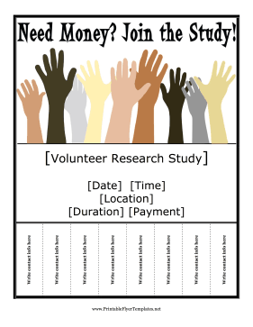Research Study Flyer Printable Template