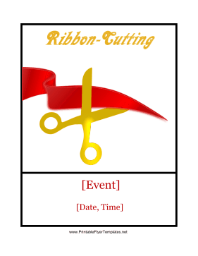 Ribbon-Cutting Ceremony Printable Template