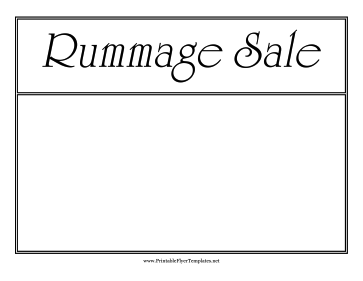 Rummage Sale Flyer Printable Template