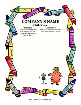 SampleFlyerForChildCarepng - Child care brochure templates free