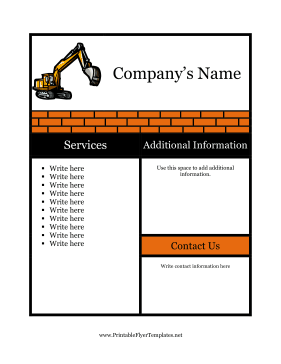 Sample Flyer For Construction Printable Template