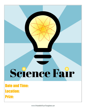 Science Fair Flyer Printable Template