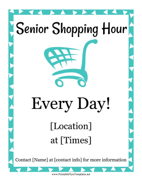 Senior Shopping Hour Printable Template
