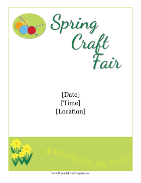 Spring Craft Show Flyer Printable Template