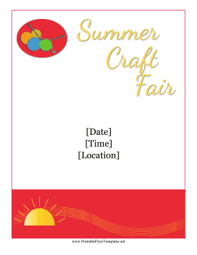 Summer Craft Show Flyer Printable Template
