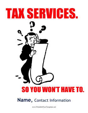 Tax Services Flyer Printable Template