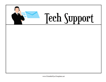 Tech Support Flyer Printable Template