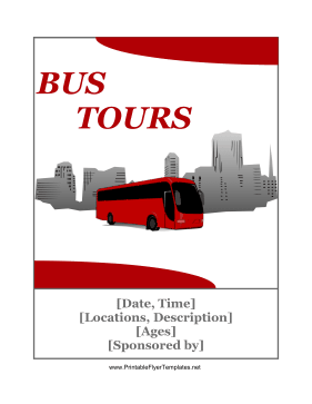 Tour Bus Flyer Printable Template
