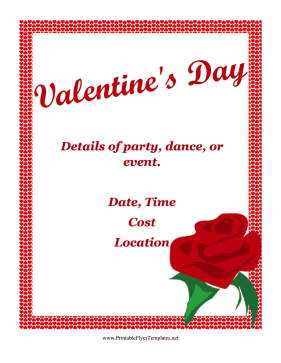 Valentines Day Flyer Printable Template