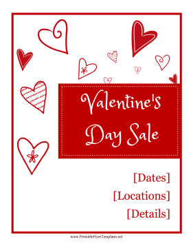 Valentines Day Sale Flyer Printable Template