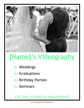 Videography Services Flyer Printable Template